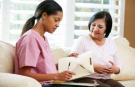 nurse assessing patient
